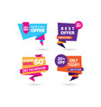 super deal tags promotion business banner vector image