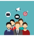 teamwork and business related icons image vector image vector image