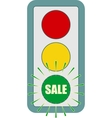 Traffic lights symbol Flashing green vector image