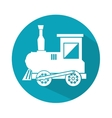 train toy isolated icon vector image vector image