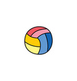 volleyball cartoon doodle icon theme vector image vector image