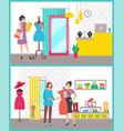 woman clothes shop boutique sale image vector image vector image