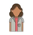 woman doctor cartoon vector image