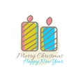 Xmas candles decoration vector image
