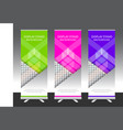 set of vertical abstract display banner stand or vector image