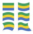 Gabon flag Set of flags of Gabonese Republic in vector image