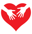 Hands on heart vector image