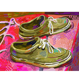original digital painting shoe on a carpet vector image