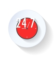 24 hours open flat icon vector image vector image