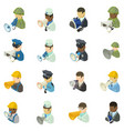 alert service icons set isometric style vector image vector image