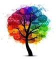 Beautiful abstract color tree background vector image vector image