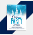 beautiful christmas party flyer template with vector image vector image