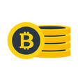 bitcoin cryptocurrency virtual fintech isolated vector image vector image