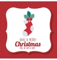 boot of Merry Christmas design vector image vector image