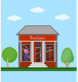 boutiqie flat icon vector image vector image