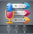 business - microphone infographic vector image