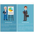 businessman set of posters vector image vector image