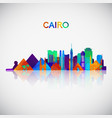 cairo skyline silhouette in colorful geometric vector image vector image