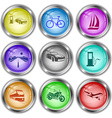car fueling bicycle yacht road fueling station vector image vector image