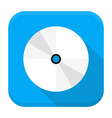 CD DVD flat app icon with long shadow vector image vector image
