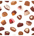 chocolate candy sweet confection dessert vector image vector image