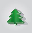 christmas tree geometric modern design vector image