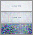Colored square pattern banner background set vector image