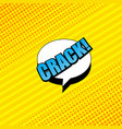 comic book yellow background vector image