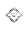 crown in diamond shape emblem icon image vector image vector image