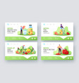 detox landing page template set tiny characters vector image vector image