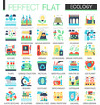 ecology and green energy complex flat icon vector image