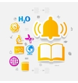 Education sticker infographic vector image