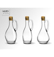 empty glass bottles collection isolated on vector image