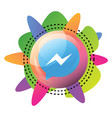 facebook messenger sign inside a bubble with vector image vector image