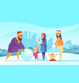 family winter active holidays vector image