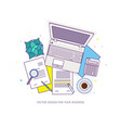 flat design baners for online education vector image