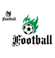 Football or soccer emblem vector image vector image