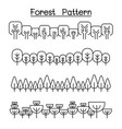 forest pattern forest background landscape vector image vector image