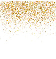 gold sparkles on white background vector image vector image