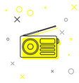 grey radio with antenna line icon isolated on vector image vector image