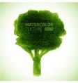 hand drawn watercolor grunge tree vector image