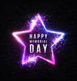 happy memorial day usa holiday star greeting card vector image