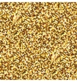 Hexagonal Gold glitter seamless pattern for vector image
