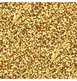 Hexagonal Gold glitter seamless pattern for vector image vector image