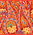 indian ethnic seamless pattern with paisley vector image