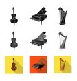 isolated object music and tune logo collection vector image