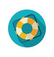 Lifebuoy flat icon Summer Marine vector image vector image