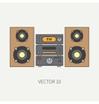 Line flat icon with retro electrical audio vector image vector image