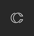Logo C monogram modern letter mockup elegant