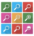 Magnifier Glass Icons wiht shadow vector image